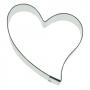 Метален резец - Декоративно сърце - 5.5 см