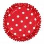 Хартиени форми за мъфини и кексчета - Романс в червено - 75 бр