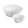Хартиени форми за мъфини и кексчета - Сребристи - 30 бр