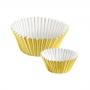 Хартиени форми за мъфини и кексчета - Златисти - 30 бр