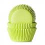Хартиени форми за мъфини и кексчета - Зелено лайм - 50 бр