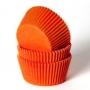 Хартиени форми за мъфини и кексчета - Оранжеви - 50 бр