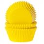 Хартиени форми за мъфини и кексчета - Жълти - 50 бр
