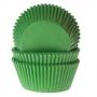 Хартиени форми за мъфини и кексчета - Тревисто зелени - 50 бр
