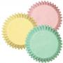 Хартиени форми за мини мъфини - Асорти пастел - 100 бр