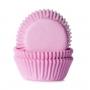 Хартиени форми за мини мъфини и кексчета - Светло розово - 60 бр