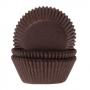 Хартиени форми за мини мъфини - Шоколадово кафяво - 60 бр