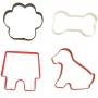 Комплект метални цветни резци - Домашен любимец - 4 бр