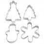 Комплект метални резци - 3D Празничен пейзаж - 4 бр