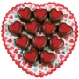 Комплект декоративни подложки - Сърце - 4 бр