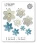 Комплект резци и щампи - Маргаритка 6 венчелистчета - 4 бр