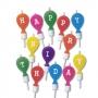 Комплект свещички - Happy Birthday - Балони