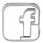 Метален резец - Facebook - 5 см