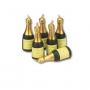 Комплект свещички - Бутилка шампанско - 6 бр