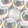 Боя на прах с копринен блясък - Блещукащ ефект - Искрящо бяло -