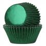 Хартиени форми за мъфини - Празнично зелени - 24 бр