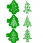 Комплект шаблони - Коледни елхи - 3 бр