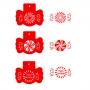 Комплект шаблони - Коледни лакомства - 3 бр