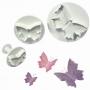Комплект резци и щампи с бутало - Пеперуди - 3 бр