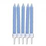 Комплект свещички - Нежно сини - 10 бр