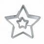 Метален резец - Звезда в звезда - 4.5 см