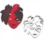 """Метален резец - Карнавална маска """"Лице"""" - 10 см"""