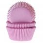 Хартиени форми за мъфини и кексчета - Светло розови - 50 бр