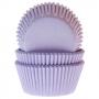 Хартиени форми за мъфини и кексчета - Нежно лилави - 50 бр
