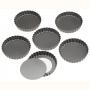 Комплект форми за мини пай с подвижно дъно - 6 бр х Ø 10 см