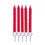Комплект свещички - Червени - 10 бр