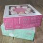 Комплект кутии за торти - Сладки мисли - 21х21х9 см