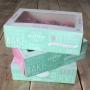 Комплект кутии за мъфини - Сладки мисли - 24х16х8 см
