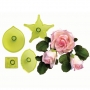 Комплект резци и щампи - Голяма роза - 4 бр