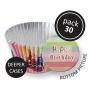 Хартиени форми с фолио за мъфини - Парти шапки - 30 бр