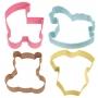 Комплект метални цветни резци - Бебешка тема - 4 бр