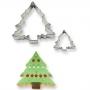 Комплект метални резци - Коледни елхи - 2 бр