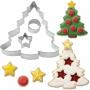 Комплект метални резци - Коледни елхи - 3 бр