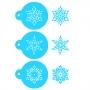 Комплект шаблони - Снежинки - 3 бр