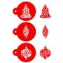 Комплект шаблони - Коледни играчки - 3 бр
