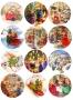 Принт декорация - Коледа с приятели - 12 бр
