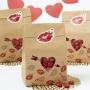 Комплект хартиени торбички - Св. Валентин - 6 бр