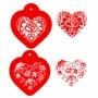 Комплект шаблони - Викториански сърца - 3 бр