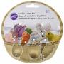 Комплект мини метални резци - Великденска кошница - 6 бр