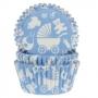 Хартиени форми за мъфини - Бебешки в синьо - 50 бр