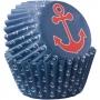 Хартиени форми за мини мъфини - Морски - 100 бр