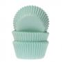 Хартиени форми за мини мъфини - Ментово зелено - 60 б