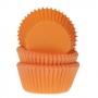 Хартиени форми за мини мъфини -  Оранжево - 60 бр