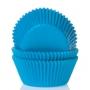 Хартиени форми за мини мъфини - Цианово синьо - 60 бр