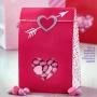 Комплект хартиени торбички - Сърдечни пожелания - 6 бр