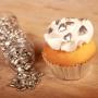 Захарни фигурки за поръсване - Сребърни сърца - 80 гр